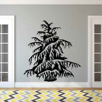 Cedar Tree Vinyl Wall Decal Sticker