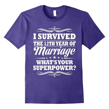 12th Wedding Anniversary Gift Ideas For Her/ Him- I Survived