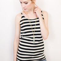 Mosy Stripe Knit Tank