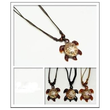 Turtle Cord Necklace