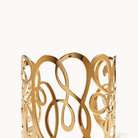 Girly Cutout Filigree Cuff