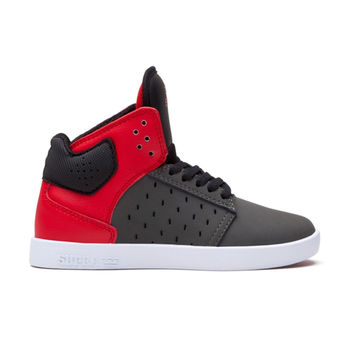 Supra - Kids Atom - Grey/Red