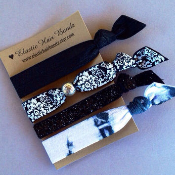 The Kylie Hair Tie-Ponytail Holder Collection by Elastic Hair Bandz on Etsy