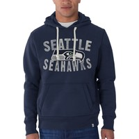 Seattle Seahawks '47 Brand Cross Check Pullover Hoodie - College Navy