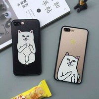 Case cover for apple iphone 5s 6s 6 s 5 s5 5se se 6 plus 6s plus 7 plus fashion funny ripndip pocket cat hard phone cases fundas