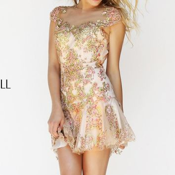 Beaded Short Dress by Sherri Hill
