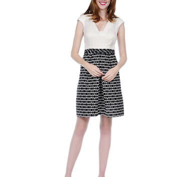 Kay Unger Sequined Geo Print Dress