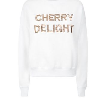 White Cherry Delight Embroidered Sweater | New Look