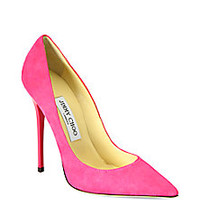 Jimmy Choo - Anouk Suede Pumps - Saks Fifth Avenue Mobile