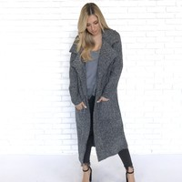 No Need to be Cold Knit Trench Jacket