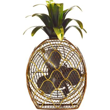 Pineapple Figurine Table Fan
