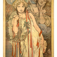 Nouveau Friendship by Alphonse Mucha Fine Art Print