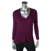 INC Womens Ribbed Long Sleeves Pullover Sweater