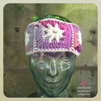 Granny Square Headband/Ear Warmer~Ready to ship~FREE SHIPPING
