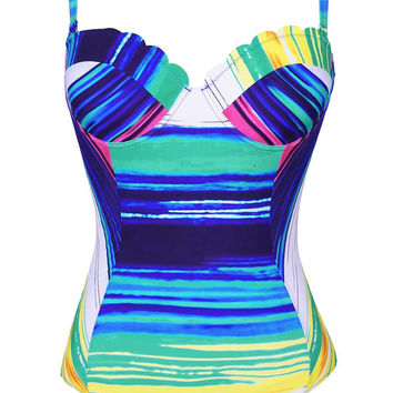 Cupshe Sea Sunset Stripes One-piece Swimsuit