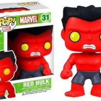 Funko Pop Marvel Avengers Assemble Super Hero Red Hulk Pvc 10Cm Action Figure Super Heroes Collection Model Wl032