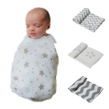 One pack Muslin Baby Swaddling Blanket For Newborn Infant