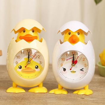 Cute Chick Shape Alarm Clock Desk Table Clock Bedroom Home Decor Birthday Gift Present