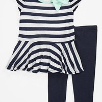Jenna & Jessie Stripe Top & Leggings (Baby Girls) | Nordstrom