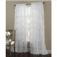 Gypsy Ruffled Panel White:Amazon:Home & Kitchen
