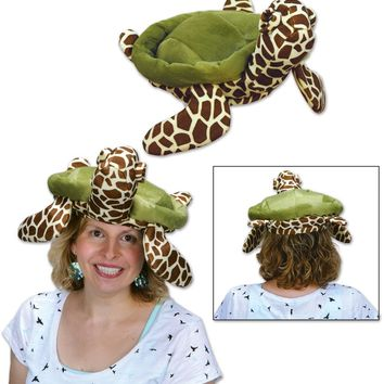 Plush Sea Turtle Hat Case Pack 6