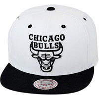 Mitchell & Ness Men's Chicago Bulls Black/White 96 Snapback One Size White