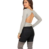 Heather Gray Own The Moment Bodysuit