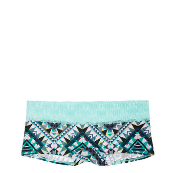 Tropical Lace Trim Boyshort - PINK - Victoria's Secret