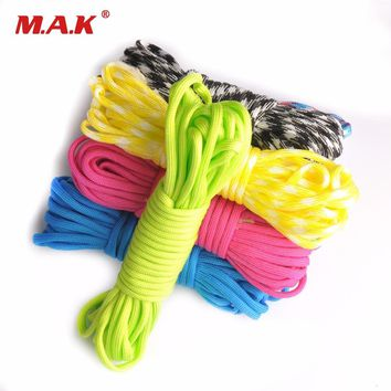 High Quality 100FT 550 Paracord Rope Camping Paracord Lanyard Accessories Parachute Deg For Camping Equipment & Survival