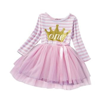 Winter Baby Girl Princess Dress Baptism Tutu Dresses Brand Girls Clothes Kids Toddler Clothing For Girl 1st Birthday Outfits S2