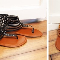 Hot and Fabulous Studded Gladiator Sandals for Summer! 5 Colors!