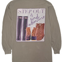 'Step Out & Find Adventure' Long Sleeve Tee