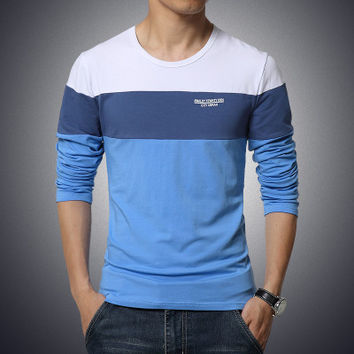 New Slim Fit O-Neck Long Sleeved Shirt