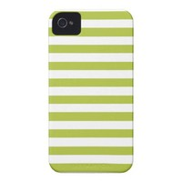 Acid And White Large Stripes Case-Mate iPhone 4 Cases from Zazzle.com