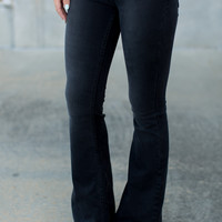 Free People Penny Pull On Flares - Black