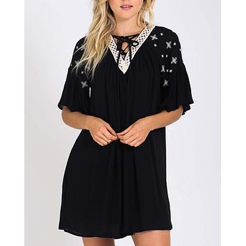 Moon & Stars Dress in Black