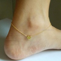 Gift Shiny Jewelry New Arrival Stylish Ladies Cute Hot Sale Summer Simple Sexy Heart Anklet [8080499719]