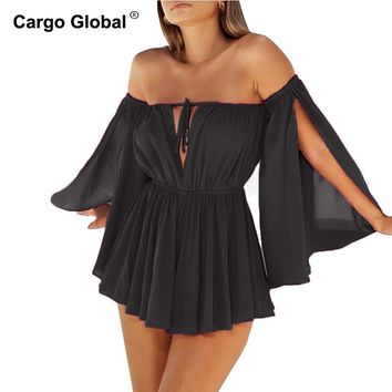 Summer Hot Sale Candy Color Bra Split Sleeves Casual Chiffon Dress Sexy Beach Dresses Short Mini Dresses  Vestido De Festa