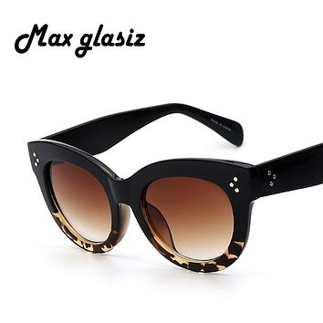 New 2016 Female Audrey Fashion Retro Glasses Rivets Vintage Women Sunglasses Cateye Designer Eyeglasses Girl Oculos feminino