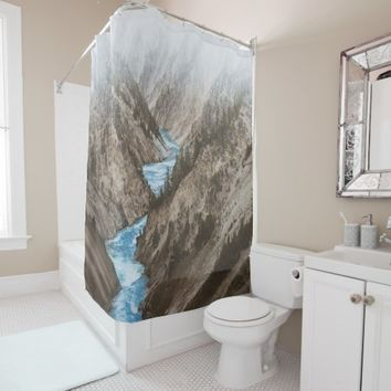 Alaska Wild Yukon River Winter Mountain Nature Shower Curtain