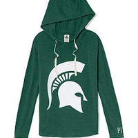 Michigan State Vintage Tunic Hoodie - PINK - Victoria's Secret
