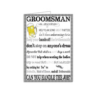 Custom DIY Printable Will You Be My Groomsman