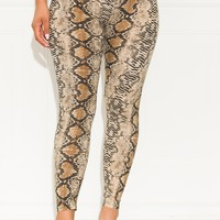 Under Your Spell Snake Print Leggings