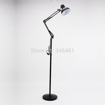 2Pcs American Stylish Floor Lamp Work Light Telescopic Folding Floor Lamp Two Ways Using Led E27 Desk &Floor Lamp