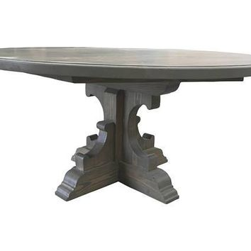 Smokey Grey Round Birdie Table
