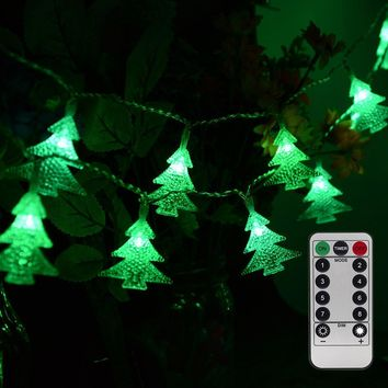50 LED Twinkle Christmas Tree Battery String Lights