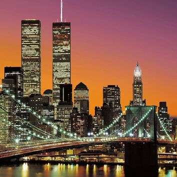Brewster Wallpaper DM389 New York City Wall Mural