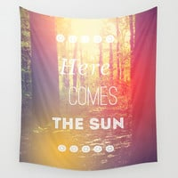 Here Comes the Sun Wall Tapestry by Olivia Joy StClaire