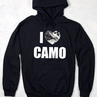 CG Relaxed Pullover Hoodie - I Heart Camo