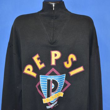 90s Pepsi Sport Apparel Zip Top Sweatshirt Extra Large